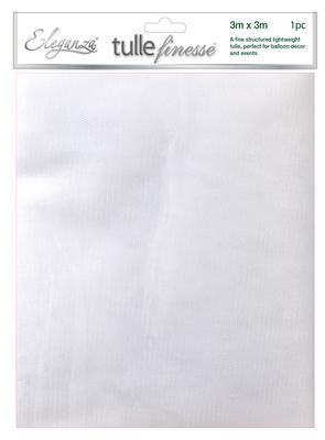 Eleganza Tulle Finesse 3m x 3m 1pc bag White No.01 - Organza / Fabric