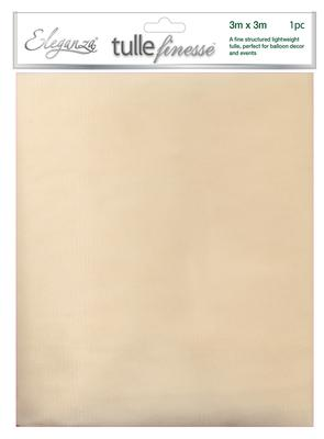 Eleganza Tulle Finesse 3m x 3m 1pc bag Ivory No.61 - Organza / Fabric