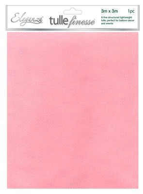 Eleganza Tulle Finesse 3m x 3m 1pc bag Lt. Pink No.21 - Organza / Fabric