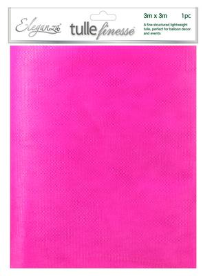 Eleganza Tulle Finesse 3m x 3m 1pc bag Fuchsia No.28 - Organza / Fabric