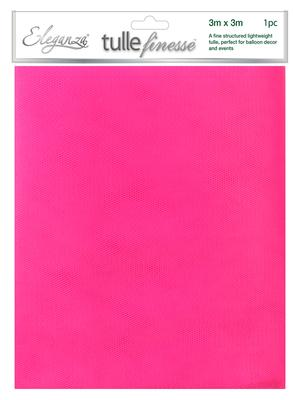 Eleganza Tulle Finesse 3m x 3m 1pc bag Hot Pink No. 34 - Organza / Fabric