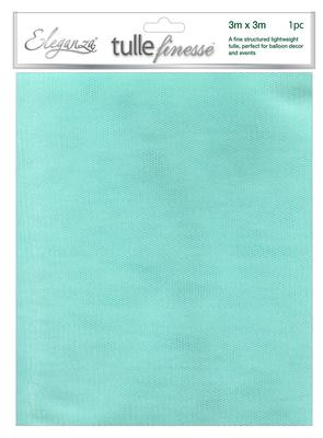 Eleganza Tulle Finesse 3m x 3m 1pc bag Turquoise No.55 - Organza / Fabric