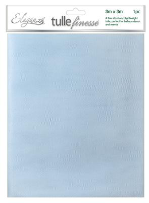 Eleganza Tulle Finesse 3m x 3m 1pc bag Lt. Blue No.25 - Organza / Fabric