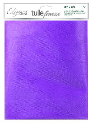 Eleganza Tulle Finesse 3m x 3m 1pc bag Purple No.36 - Organza / Fabric