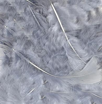 "Eleganza Craft Marabout Feathers Mixed sizes 3""-8"" 8g bag Silver No.24 - Accessories"