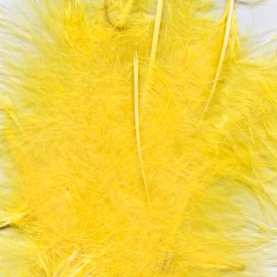 Eleganza Craft Marabout Feathers Mixed sizes 3inch-8inch 8g bag Yellow No.11 - Accessories