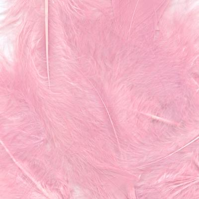 Eleganza Craft Marabout Feathers Mixed sizes 3inch-8inch 8g bag Lt. Pink No.21 - Accessories
