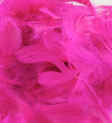 Eleganza Feathers Mixed sizes 3inch-5inch 50g bag Fuchsia No.28 - Accessories