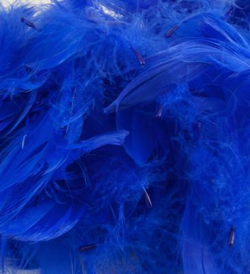 Eleganza Feathers Mixed sizes 3inch-5inch 50g bag Royal Blue No.18 - Accessories