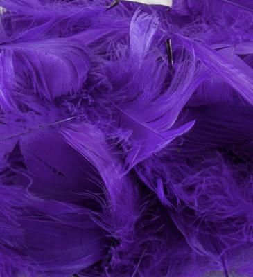 Eleganza Feathers Mixed sizes 3inch-5inch 50g bag Purple No.36 - Accessories