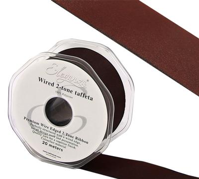 Eleganza Wired Edge Premium Taffeta Claret 38mm x 20m No.31 - Ribbons