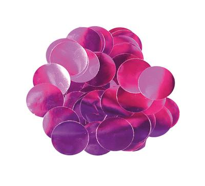 Oaktree Metallic Foil Confetti 10mm x 14g Fuchsia - Accessories