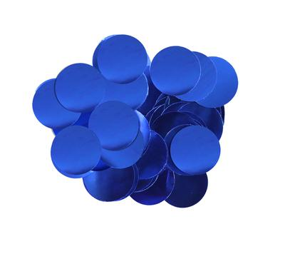 Oaktree Metallic Foil Confetti 10mm x 14g Blue - Accessories