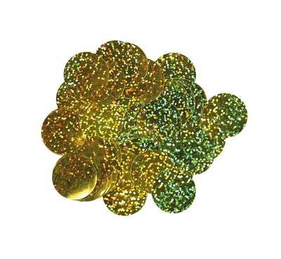 Oaktree Holographic Foil Confetti 10mm x 14g Gold - Accessories