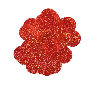 Oaktree Holographic Foil Confetti 10mm x 14g Red - Accessories