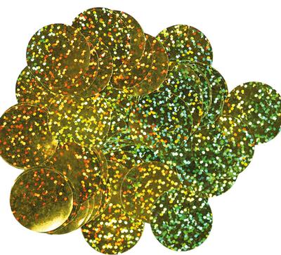 Oaktree Holographic Foil Confetti 25mm x 14g Gold - Accessories