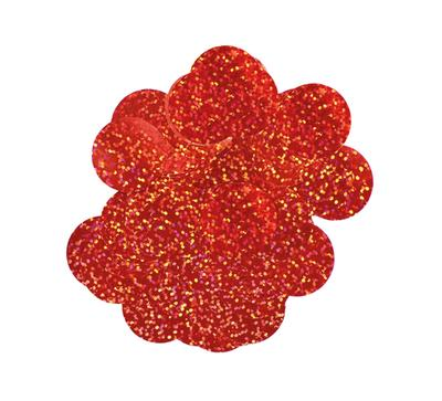 Oaktree Holographic Foil Confetti 10mm x 50g Red - Accessories