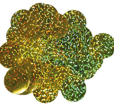 Oaktree Holographic Foil Confetti 25mm x 50g Gold - Accessories