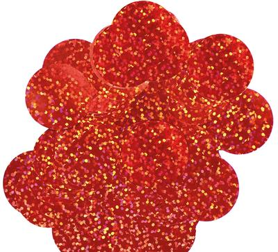 Oaktree Holographic Foil Confetti 25mm x 50g Red - Accessories