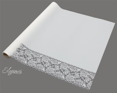 Eleganza Matte Decorative Edge Wrap 50cm x 10m White No.01 - Packaging