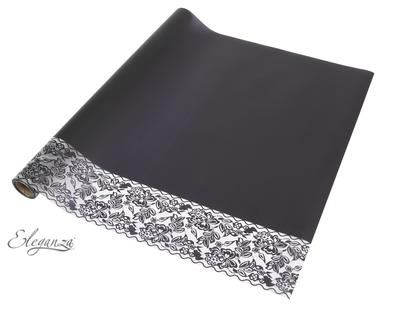 Eleganza Matte Decorative Edge Wrap 50cm x 10m Black No.20 - Packaging