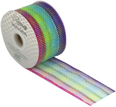 Eleganza Deco Mesh Colourful Check 63mm x 10m Pattern No.269 - Organza / Fabric