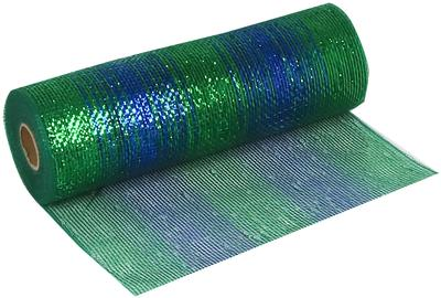 Deco Mesh Peacock Blend 25cm x 9.1m (10yds) Pattern No.268 - Organza / Fabric
