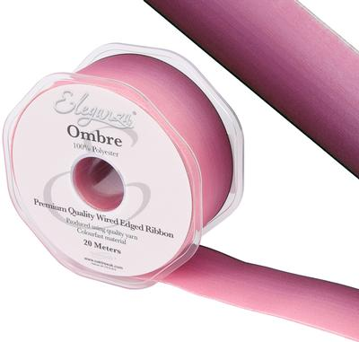 Eleganza Wired Edge Ombre Ribbon 38mm x 20m Tone No.290 - Ribbons