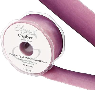 Eleganza Wired Edge Ombre Ribbon 38mm x 20m Tone No.291 - Ribbons