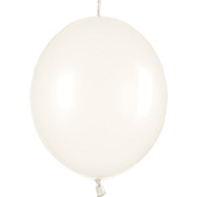 Link-o-Loon Pearl 406 Pearl White x25 (most commonly used white) - Latex Balloons