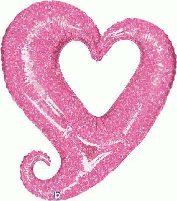 Linky Pink Heart 37inch (K) - Seasonal