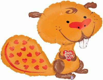 37inch /94cm Dam Youre Hot Beaver Packaged (Special Net Price) - Foil Balloons