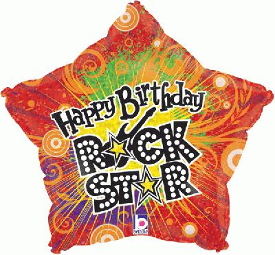 Happy Birthday Rockstar Holographic (Special Net Price) - Clearance
