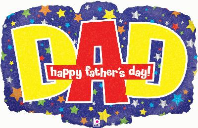 Banner Dad Fathers Day Holographic - Seasonal