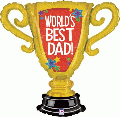 Worlds Best Dad Trophy 33inch (K) - Seasonal