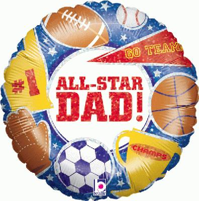 All Star Dad Holographic - Seasonal