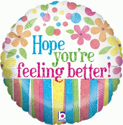Feeling Better Flowers Holographic - Foil Balloons