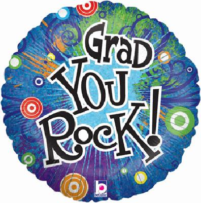 Grad You Rock! (special net price) - Foil Balloons