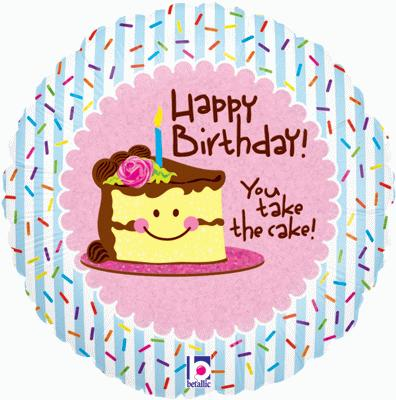 You Take the Cake Birthday Holographic (Special Net Price) - Clearance