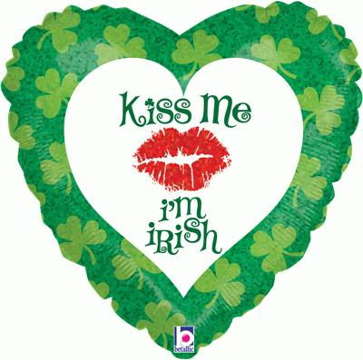Kiss Me I'm Irish Holographic - Seasonal