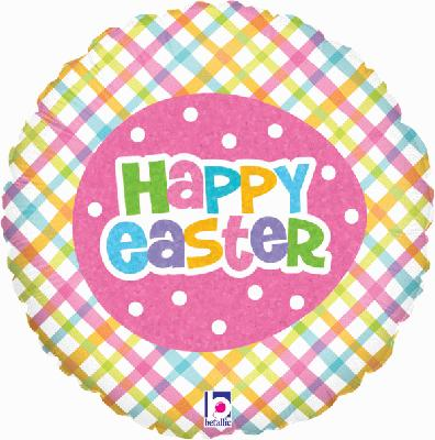 SpringTime Easter Plaid Holographic - Seasonal