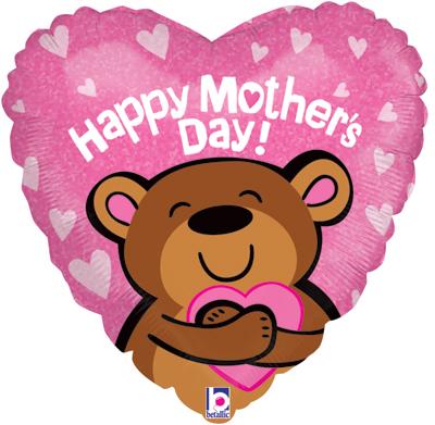 Big Hug Mothers Day Bear Holographic - Seasonal