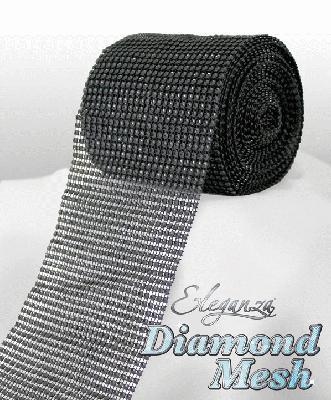 Eleganza Diamond Mesh 12cm x 9m Black No.20 - Accessories