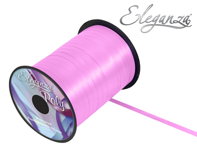 Eleganza Poly Curling Ribbon 5mm x500yds No.07 Classic Pink - Ribbons