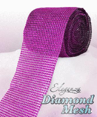 Eleganza Diamond Mesh 12cm x 9m Fuchsia No.28 - Accessories