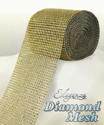 Eleganza Diamond Mesh 12cm x 9m Gold No.35 - Accessories