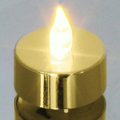 Metallic Gold Tea Light - L.E.D Lights