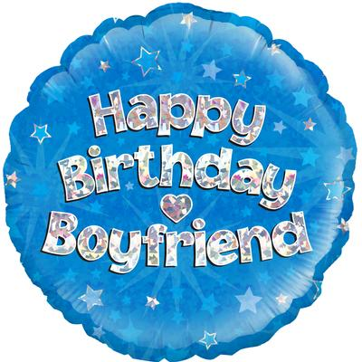 Oaktree Happy Birthday Boyfriend Holographic - Foil Balloons