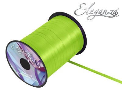 Eleganza Poly Curling Ribbon 5mm x500yds No.14 Lime Green - Ribbons