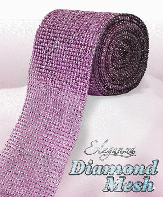 Eleganza Diamond Mesh 12cm x 9m Lt. Pink No.21 - Accessories